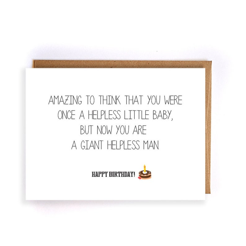 Funny Happy Birthday Card Greeting Cards For
