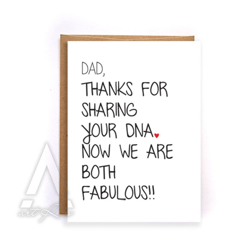 Dad Birthday Card Funny Christmas From Daughter Happy