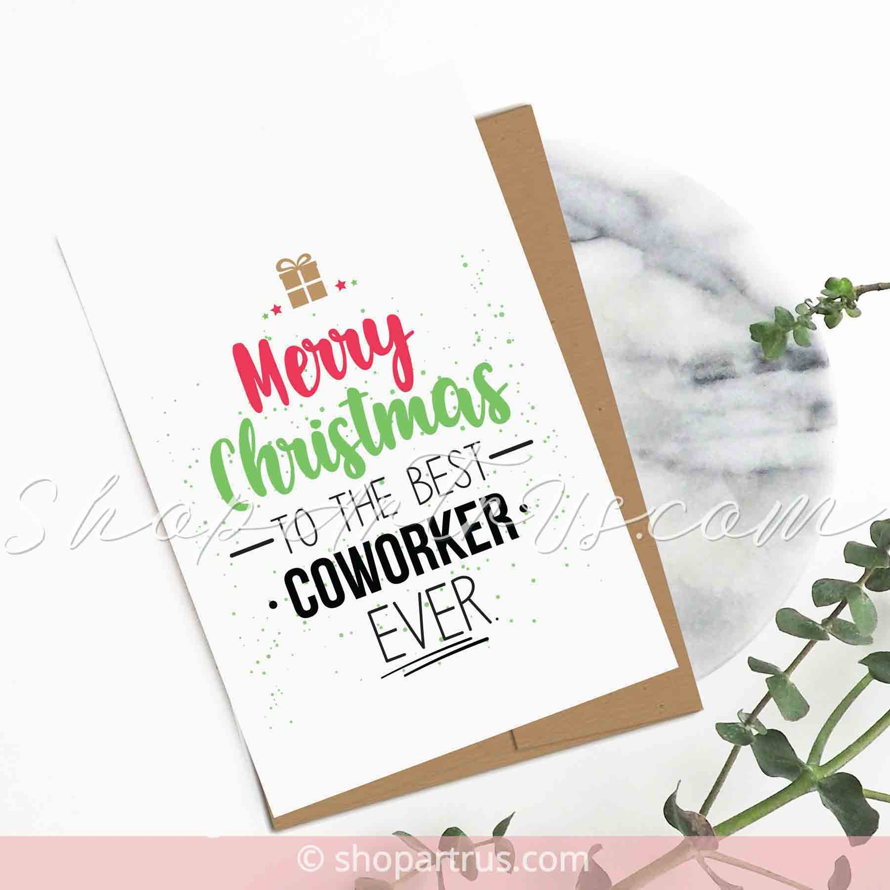 Christmas Cards For Coworkers Merry Christmas To The Etsy