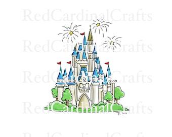 disney castle wood silhouette cutout etsy