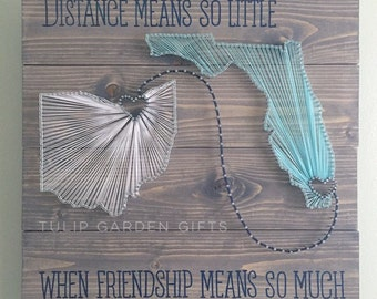 Large Two State String Art, Adjoining State String Art, State String Art, 2 State String Art, Double State String Art, Connecting States, XL