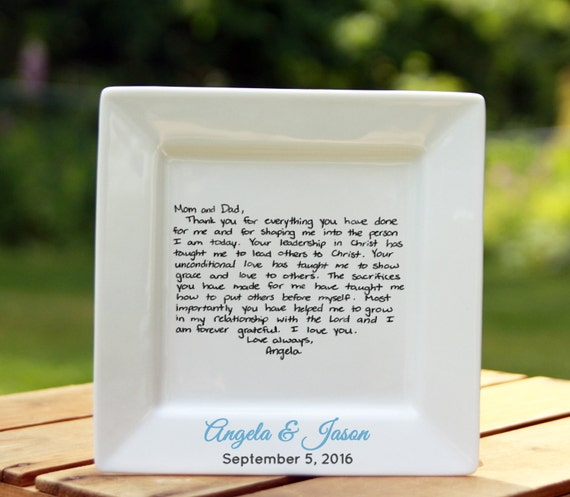 Handwritten Letter Plate 6 Inch Wedding Or Christmas Etsy