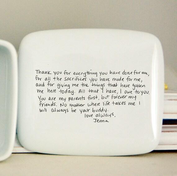 Handwritten letter box message on top of box wedding thank altavistaventures Images