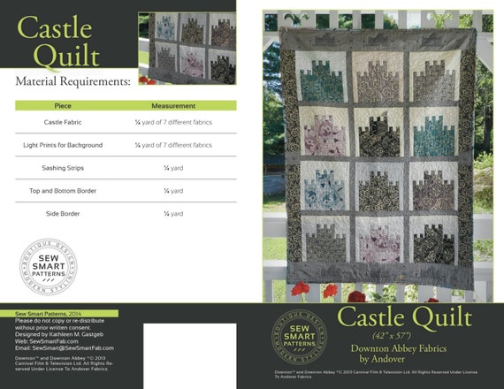 Castle Quilt Pattern By Sew Smart Fabrics Etsy