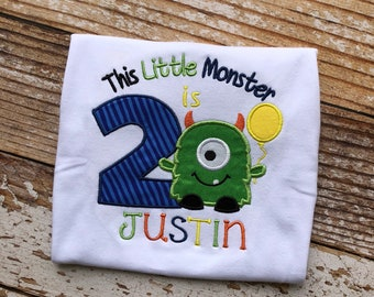 Little Monster Birthday Shirt