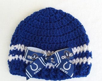 Custom Personalized Baby Unisex Indianapolis Colts Fan Beanie HatBoyGirlPhoto Prop
