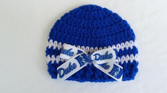 80237c898ef Baby Hat Duke University Hand Crochet sizes Newborn or 3-6