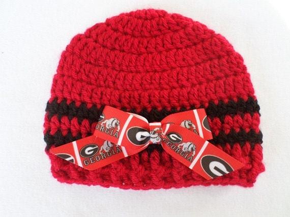 2864f29d1 Baby hat university of georgia bulldogs crochet handmade newborn months jpg  570x427 Georgia bulldog crochet hat