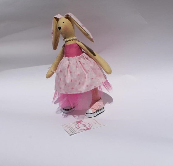 Coniglietto Di Pezza Coniglietto Di Pezza Con Scarpette Rosa Etsy