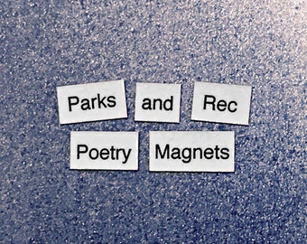 Parks and Recreation Magnetic Poetry / Fridge Magnet / Parks and Rec Quote / Parks and Rec Gift / Treat Yo Self / Leslie Knope / Ron Swanson