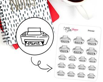 Printer Planner Sticker / Life Planner Icon Functional Sticker / Work School Sticker / ECLP Doodle /  Erin Condren Happy Planner F002