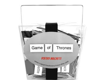 Game of Thrones Poetry Magnets / GoT Gift / Winter is Coming / Geeky Gift / Khaleesi / You Know Nothing Jon Snow / Lannister Stark Targaryen