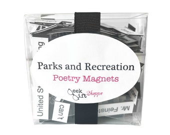Parks and Recreation Poetry Magnets / Fridge Magnet / Parks and Rec Quote / Parks and Rec Gift / Treat Yo Self / Leslie Knope / Ron Swanson