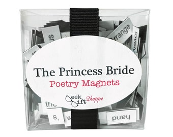 Princess Story Poetry Magnets / Refrigerator Magnet / As You Wish Gifts / Fandom Quotes / Bride Movie / 80s Cult Movie / Gifts for Geeks
