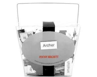 Archer Magnetic Poetry / Fridge Magnets / Archer FX / Sterling Archer Quotes / Archer TV Show / Archer Danger Zone / Sploosh / Malory Archer