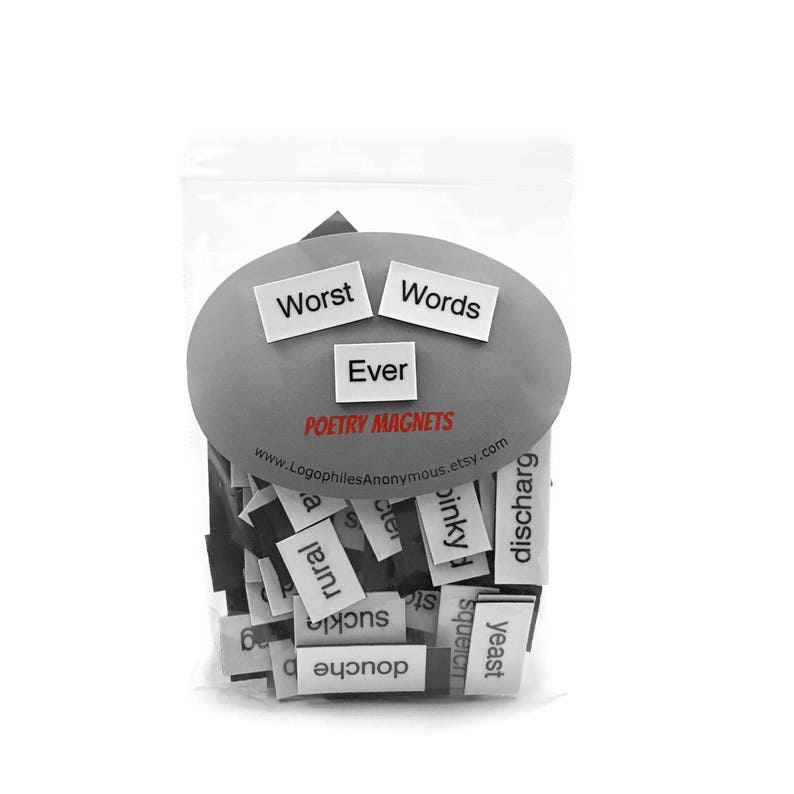 Worst Words Ever Poetry Magnets