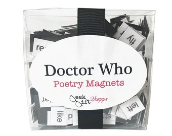 Doctor Who Poetry Magnets / Fridge Magnet / Doctor Who Quotes / Geeky / Housewarming Gift / Doctor Who Office / Dr Who / Whovian Gift