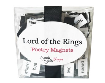 Lord of the Rings Poetry Magnets / Fridge Magnets / LOTR Quotes / The Hobbit / Game / Gifts / Frodo Bilbo Baggins / Gollum / Smeagol /Smaug