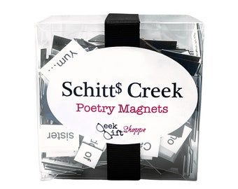 Eccentric Rich Family Poetry Magnets / Refrigerator Magnet / Fandom Quotes / Gifts for Geeks / Dorm Office Decor / Housewarming Gift
