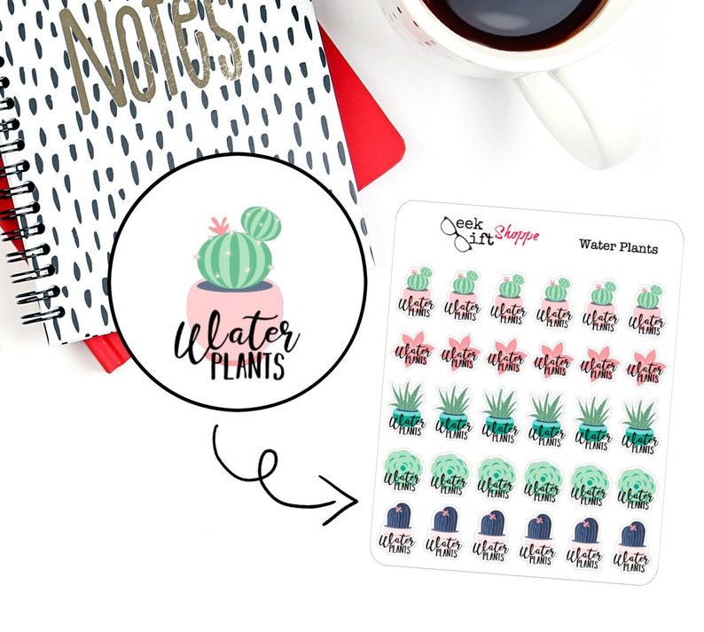 Water Plants Planner Sticker / Life Planner  Icon Functional image 0