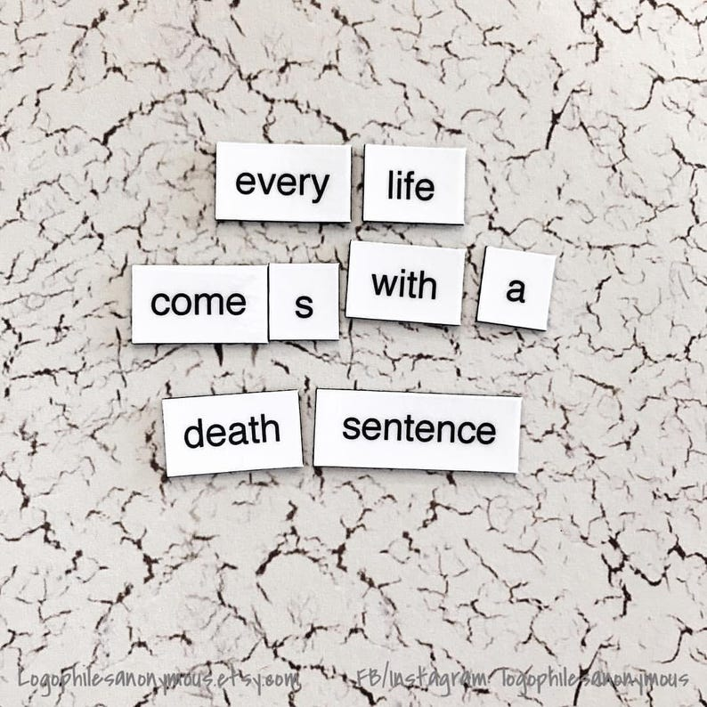 Breaking Bad Magnetic Poetry  Fridge Magnets  Walter White Quotes  Heisenberg  Jesse Pinkman  Pollos Hermanos  I Am The One Who Knocks