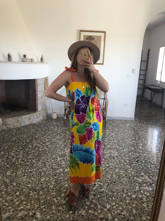 VINTAGE 70s MAXI DRESS // Long Bohemian Maxi Dress - image 2