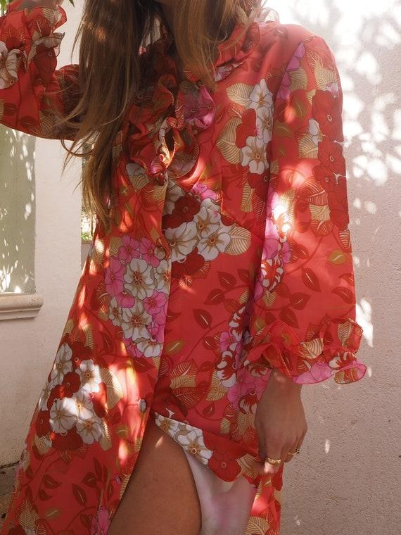 VINTAGE FLORAL DRESS // Vintage Long Floral Dress