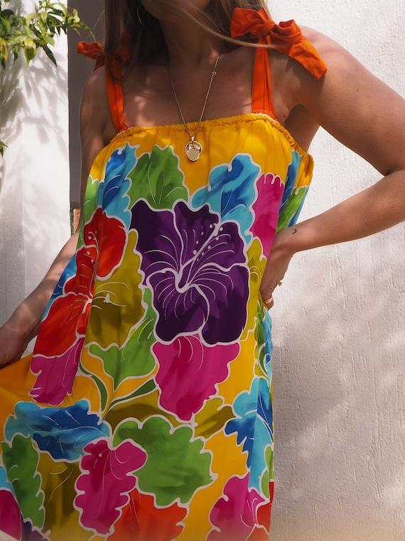 VINTAGE 70s MAXI DRESS // Long Bohemian Maxi Dress
