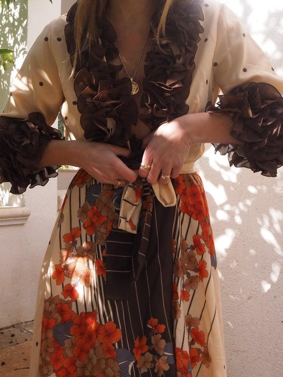 VINTAGE WRAP DRESS // Maxi Wrap Dress