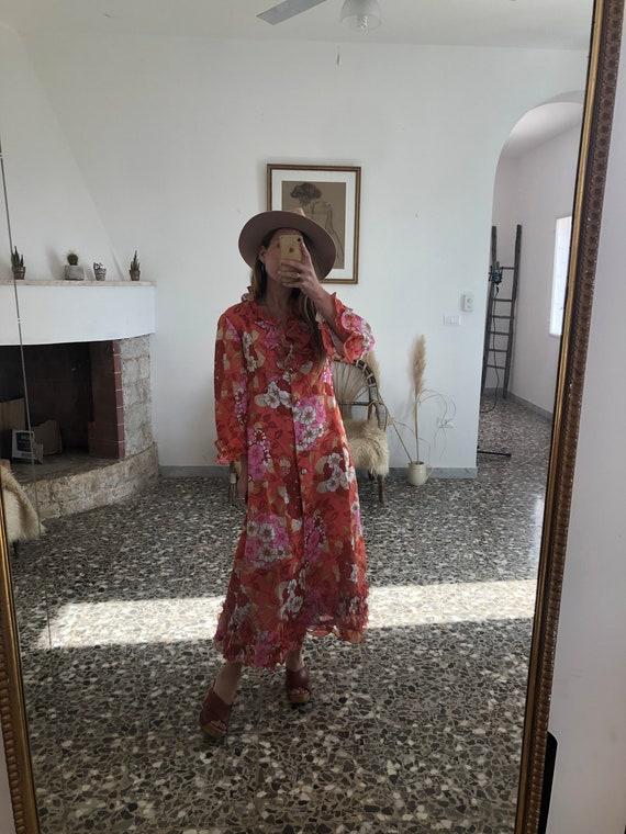 VINTAGE FLORAL DRESS // Vintage Long Floral Dress - image 2