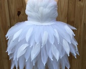 Swan costume, Swan tutu, swan dress, white feather dress, feather tutu, feather dress, all white costume, black swan costume, black swan