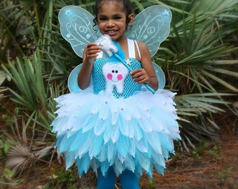 Tooth fairy tutu costume blue fairy costume girls Halloween costume tooth fairy dress Dentist costume Halloween tutu costume tooth  sc 1 st  Etsy & Girls fairy costume | Etsy