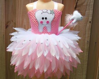 Tooth fairy costume fairy costume Toothfairy tutu costume pink fairy costume Halloween tutu costume tooth fairy dress & Fairy costume | Etsy