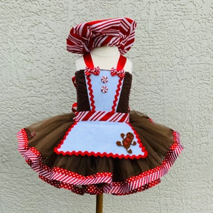 Gingerbread man costume Santa picture outfit holiday pageant outfit gingerbread tutu dress, Christmas pageant dress Christmas dress