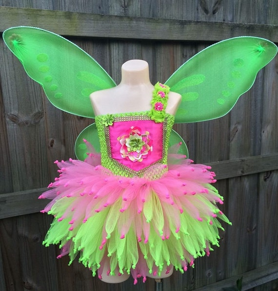 CostumeTinkerbell Fairy TutuHalloween Tutu Green Pink Costume And ucTKl3F1J