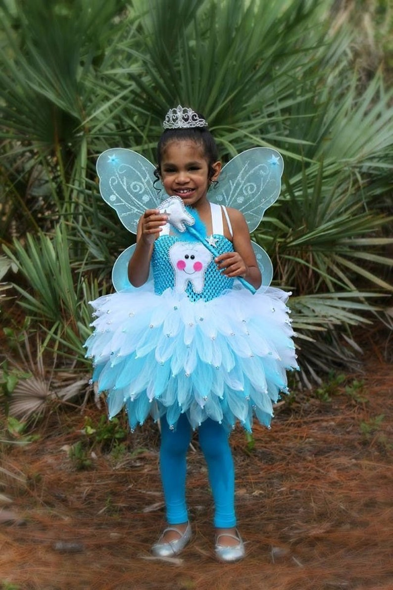 Halloween 2019 Costumes Girls.Tooth Fairy Tutu Costume Blue Fairy Costume Girls Halloween Costume Tooth Fairy Dress Dentist Costume Halloween Tutu Costume Tooth