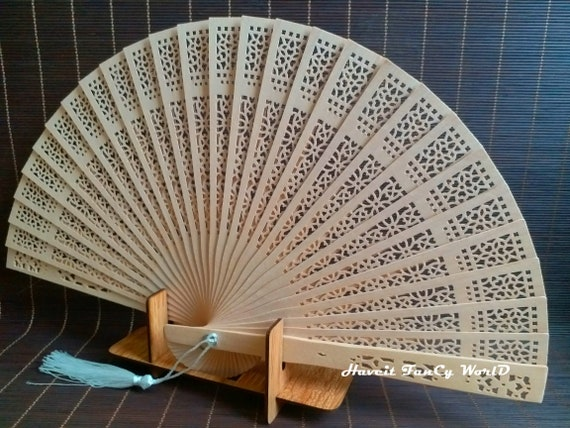 Wooden Hand Fan Stand Folding Fan Display Japanese Home Decor Etsy Delectable Japanese Fan Display Stand