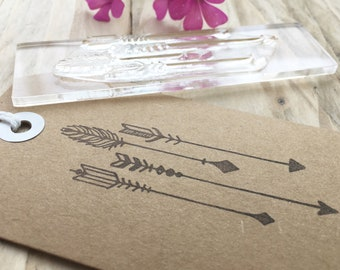 Arrows Rubber Stamp