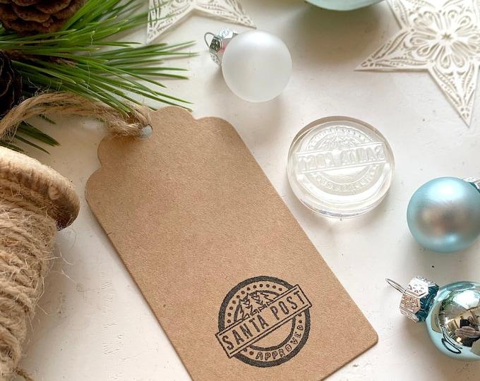 Santa Post Approved Rubber Stamp
