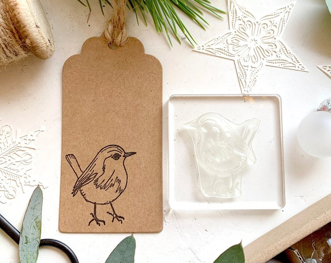 Robin Clear Rubber Stamp