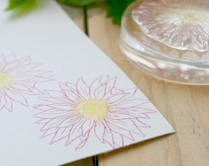 Gerbera Rubber Stamp