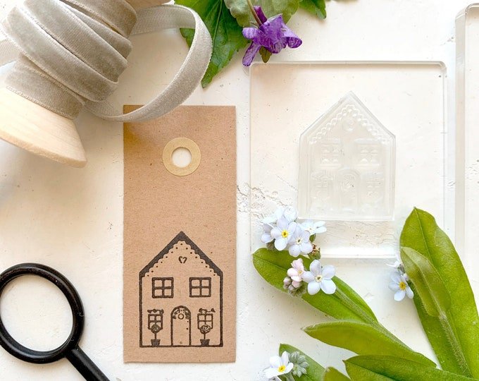 Gingerbread House Rubber Stamp - Gingerbread Stamp - Gingerbread House - Rubber Stamp - Clear Stamp - Sticky Stamp - Little Stamp Store