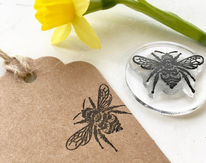 Bumble Bee Rubber Stamp