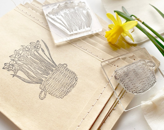 Basket Clear Rubber Stamp