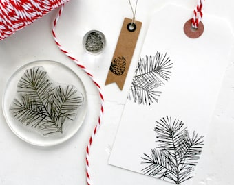 Pine Tree Cone Rubber Stamp