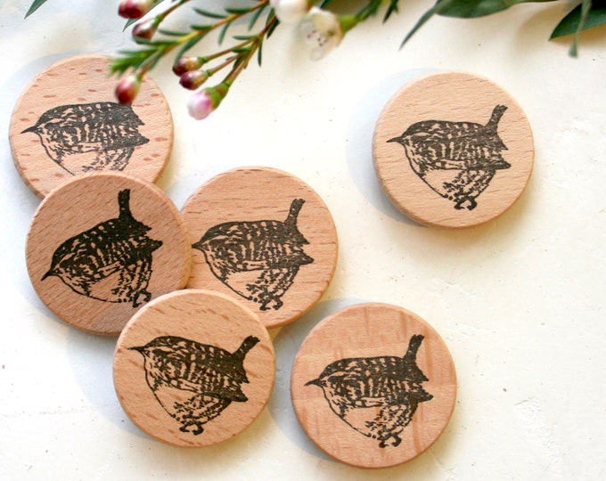 Wren Rubber Stamp