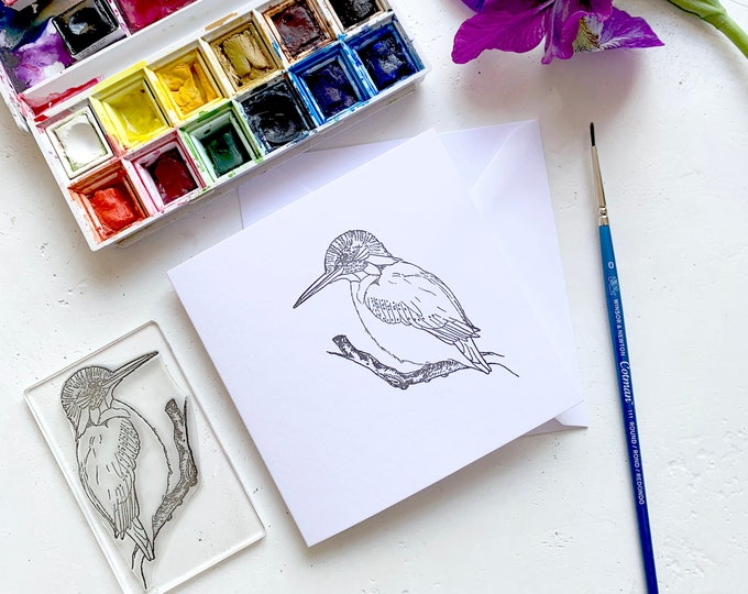 King Fisher Rubber Stamp