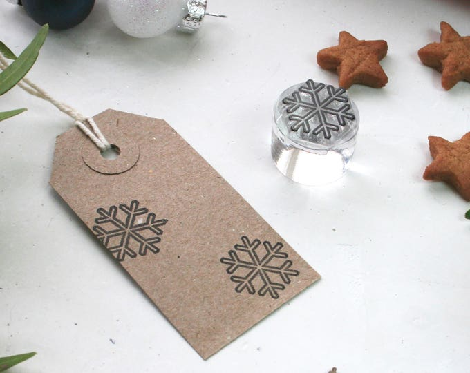 Snowflake Clear Rubber Stamp