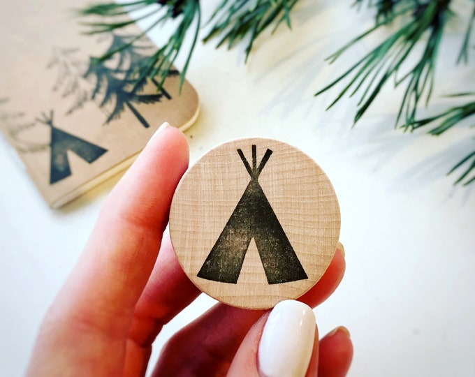 Tipi Rubber Stamp