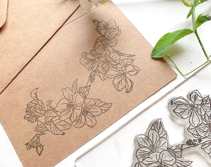 Apple Blossom Rubber Stamp